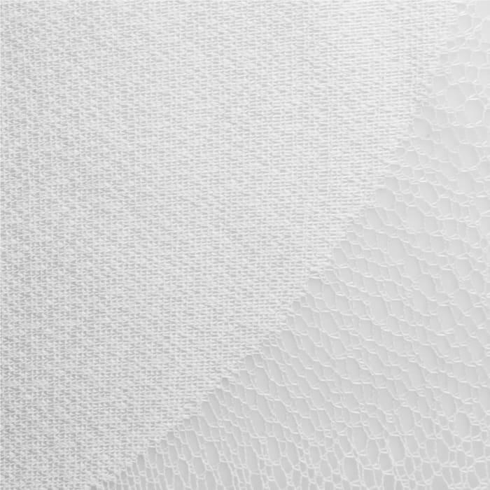 White Lace Circle Window Curtain 52x96 Set/2