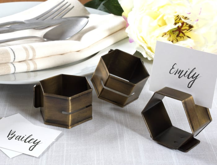 Antique Brass Place Holder Napkin Ring (Set of 6)