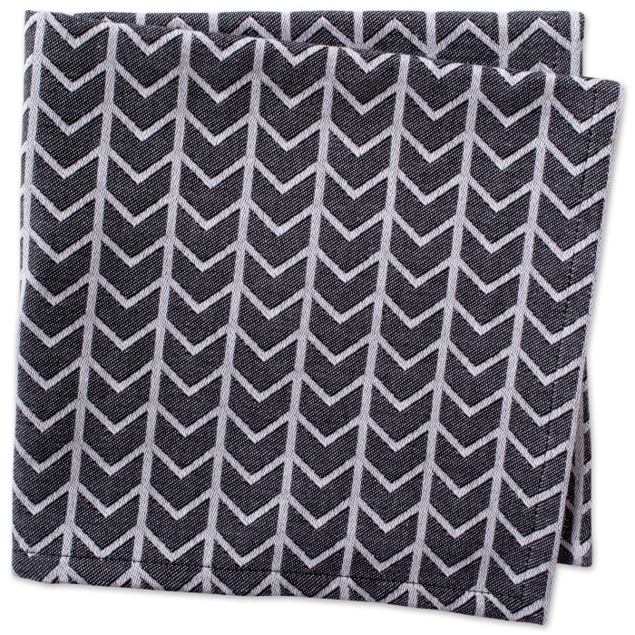 Black & White Herringbone Napkin (Set of 6)