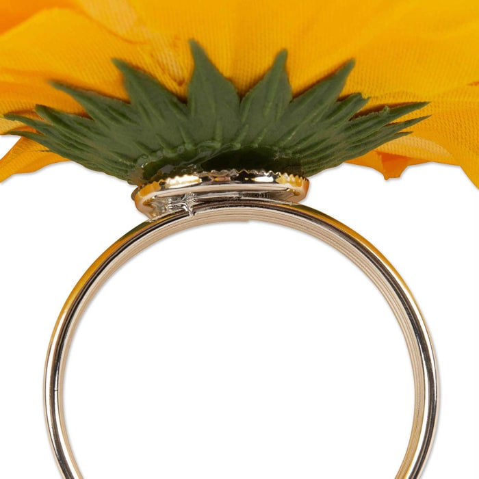 Peony Napkin Ring Et/4 Yellow