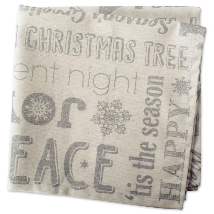 Silver Christmas Collage Napkin (Set of 6)