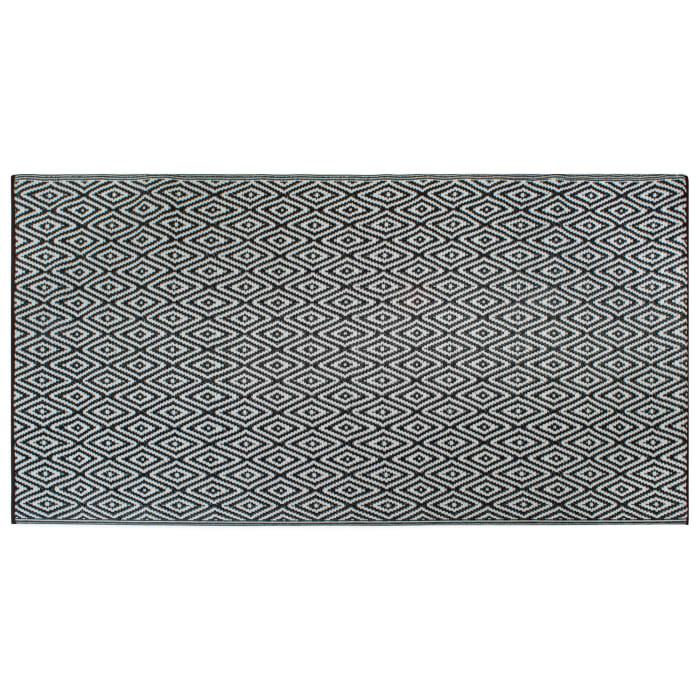 Black Diamond Outdoor Rug 4x6-ft