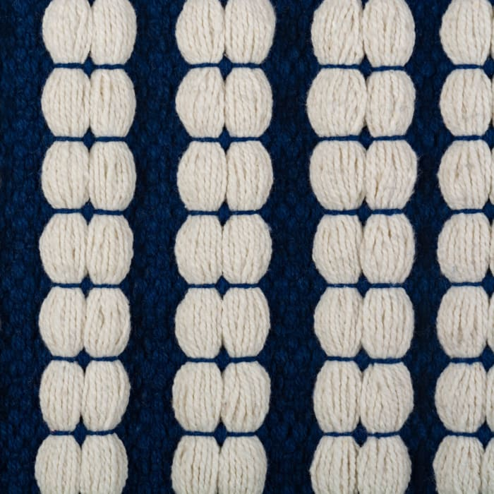 Navy Braided Stripe Rug 50x80cm