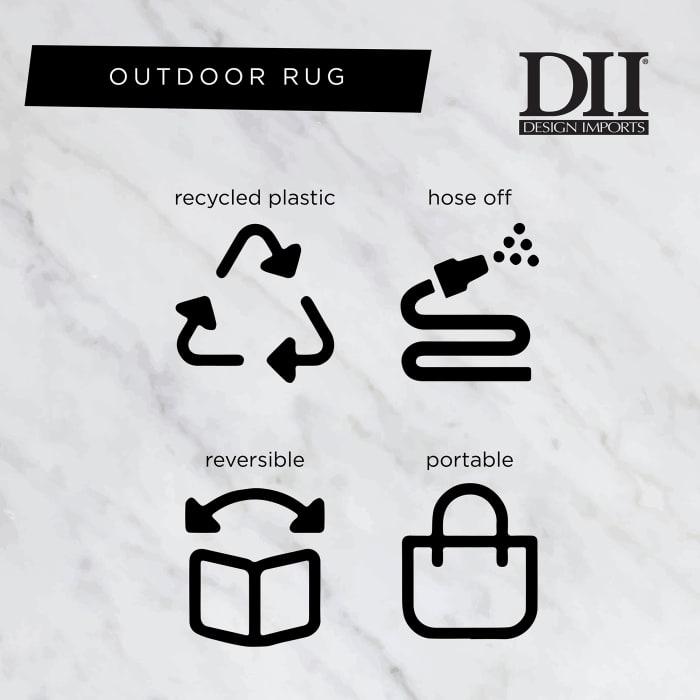 Rust Diamond Outdoor Rug 4x6-ft