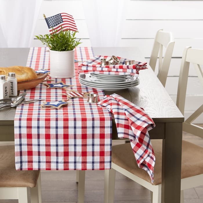 American Plaid Table Runner 14x108