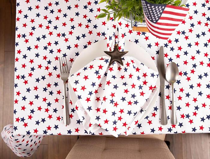 Americana Stars Print Tablecloth 60x120