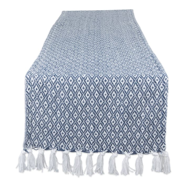 French Blue Mini Diamond Table Runner 15x72