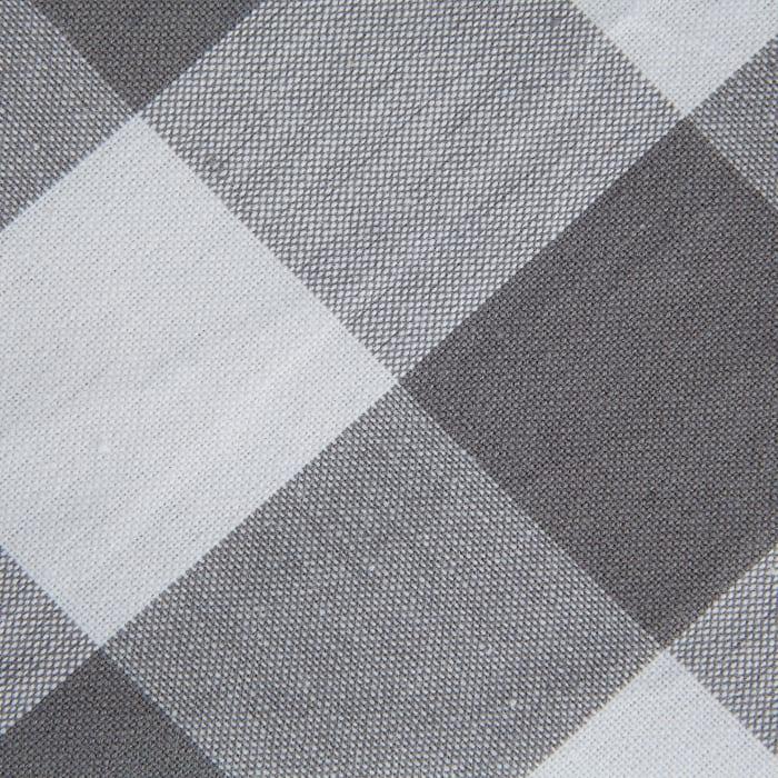Gray & White Buffalo Check Tablecloth 60x84