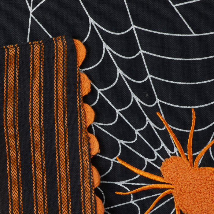 Halloween Happy Haunting Spooky Spider Reversible Table Runner 14x70