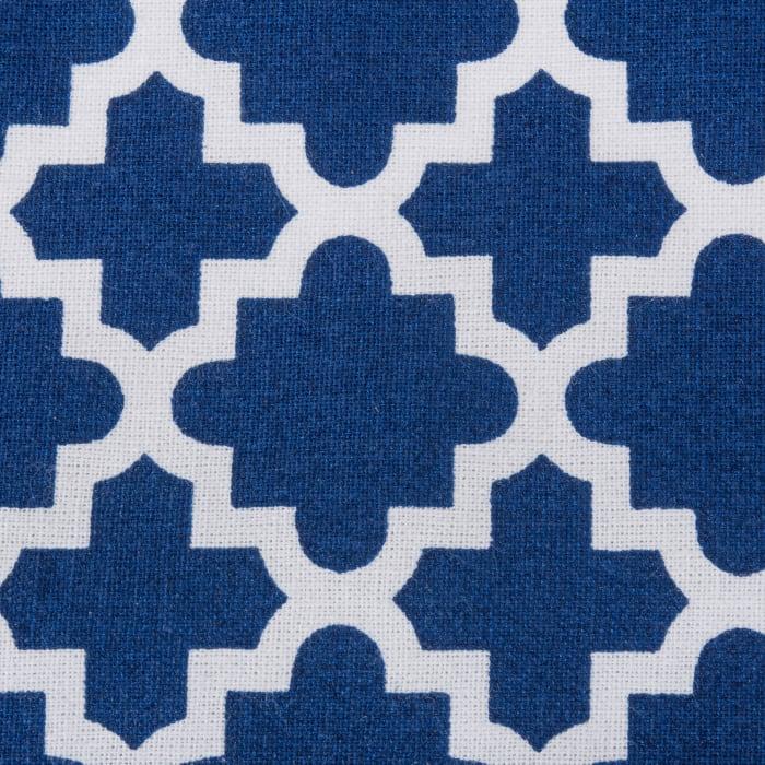 Nautical Blue Lattice Tablecloth 60x104
