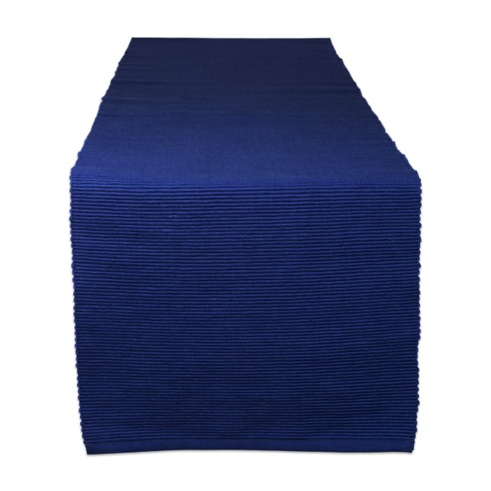 Nautical Blue Ribbed Table Runner 13x72