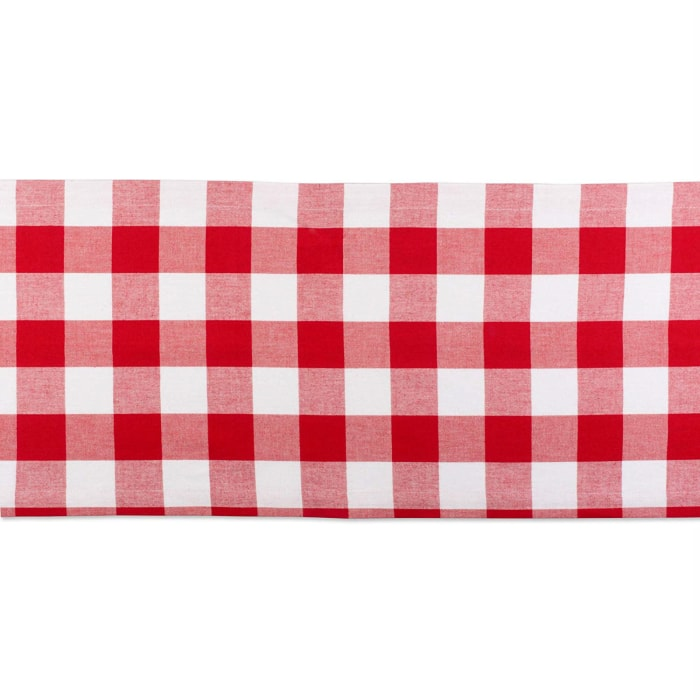 Red and White Buffalo Check Table Runner 14x72