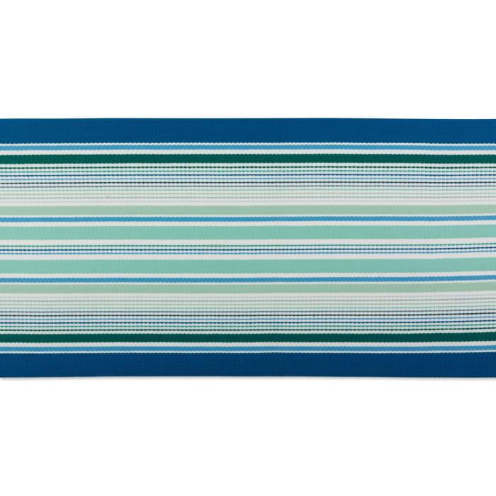 Tidal Stripe Fringed Table Runner 13x72