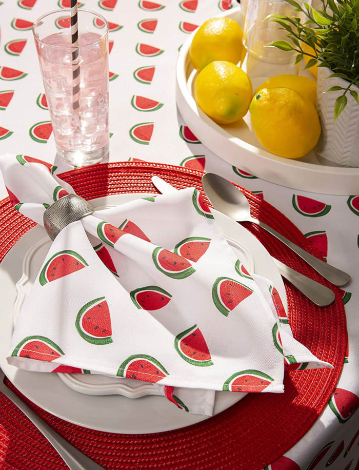 Watermelon Print Outdoor Tablecloth 60x84