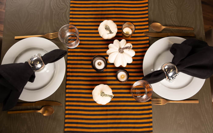 Witchy Stripe Table Runner 14x108