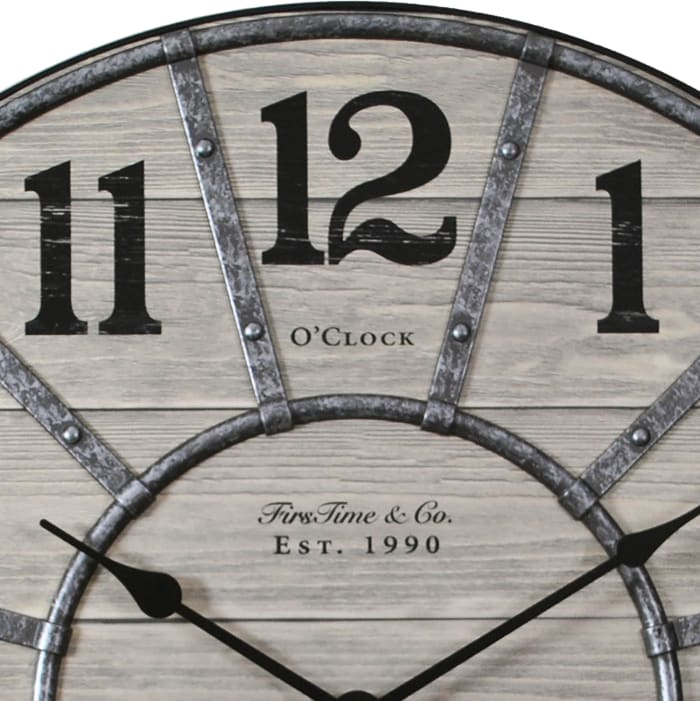 Cooper Farmhouse Wall Clock