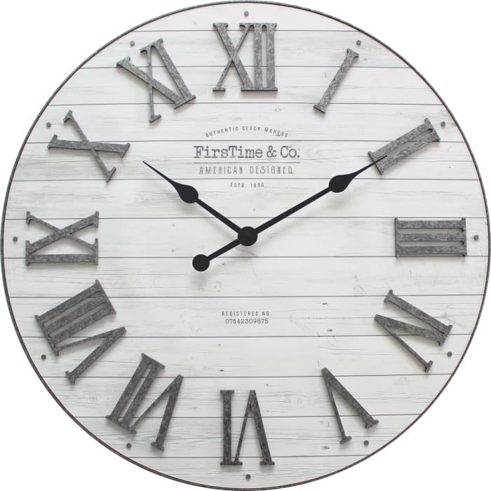 Emmett Farmhouse Shiplap Wall Clock