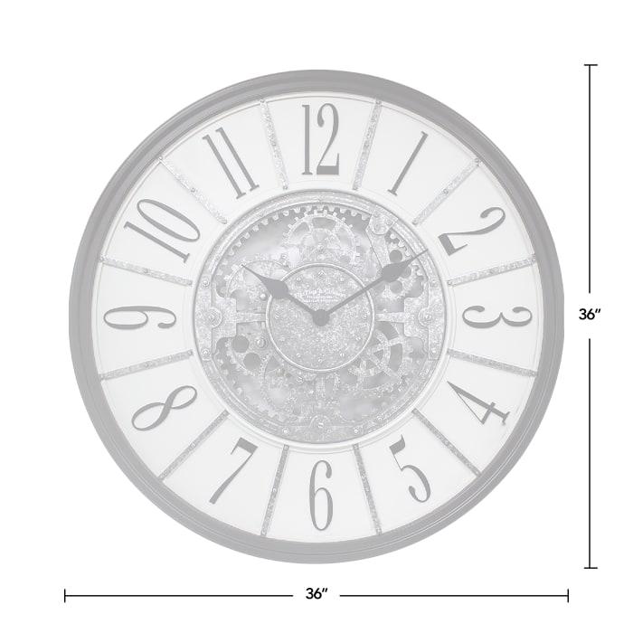 Galvanized Montevello Farmhouse Gears Clock