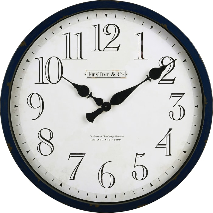 Navy Bellamy Clock