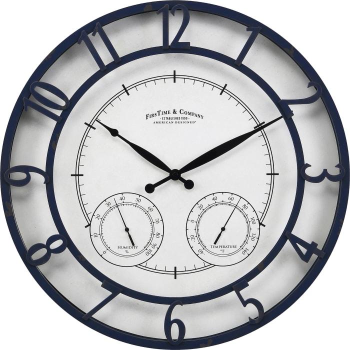 Navy Laguna Outdoor Clock
