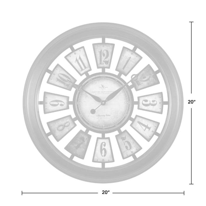 Numeral Plaques Wall Clock