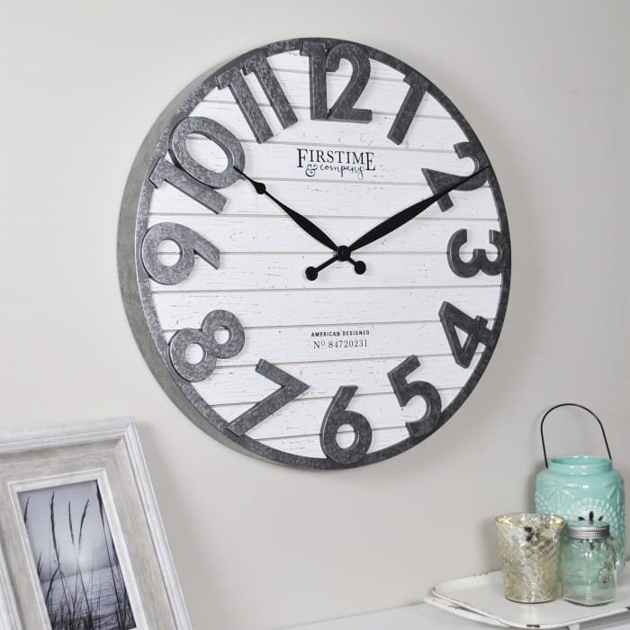 Sawyer Shiplap Wall Clock