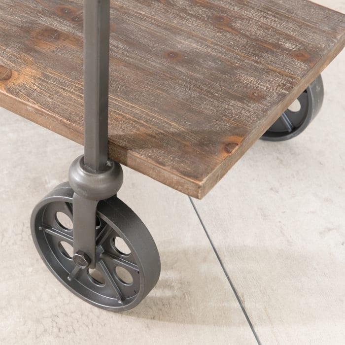 Factory Row Industrial Farmhouse Bar Cart
