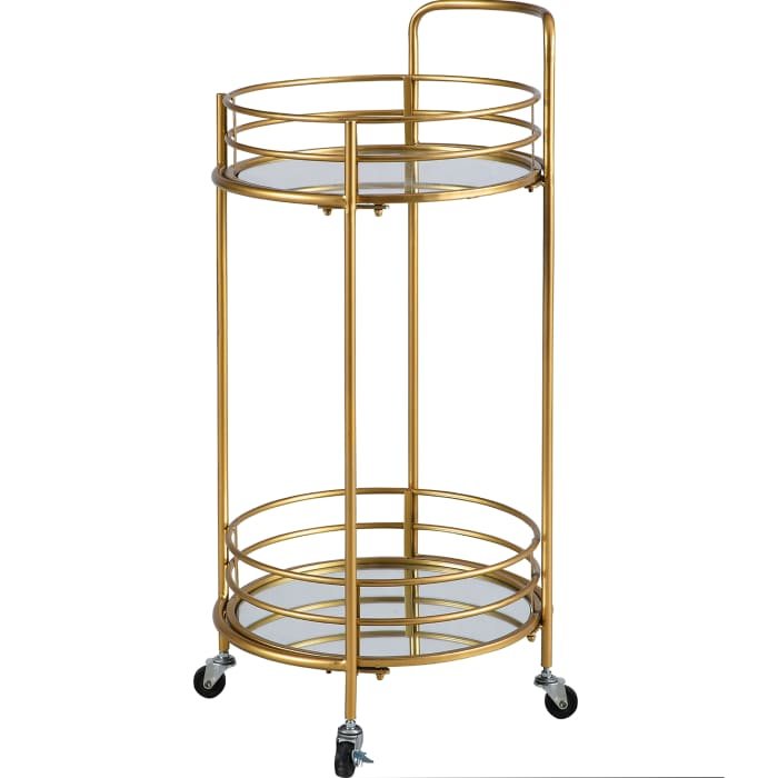 Gold Round Bar Cart