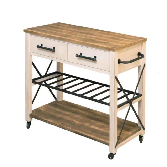 White Farmhouse Kitchen Cart Pier 1