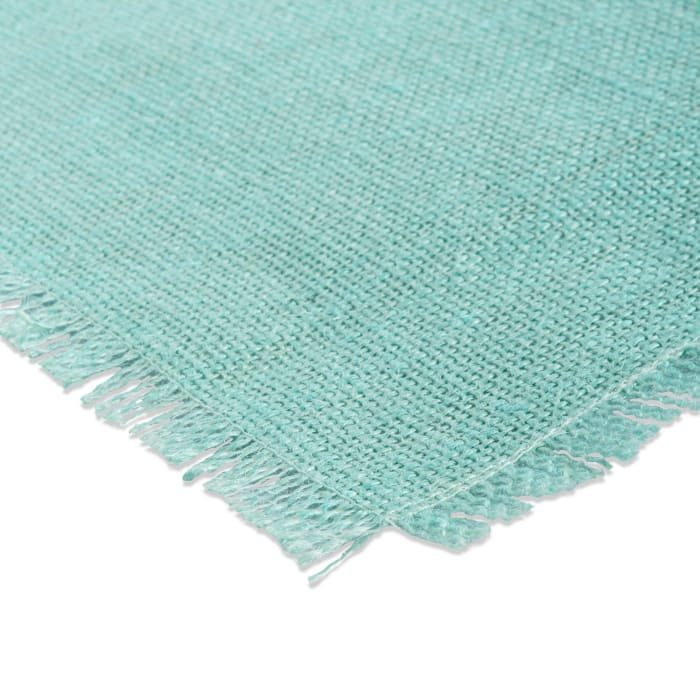 Aqua Jute Table Runner 15x110