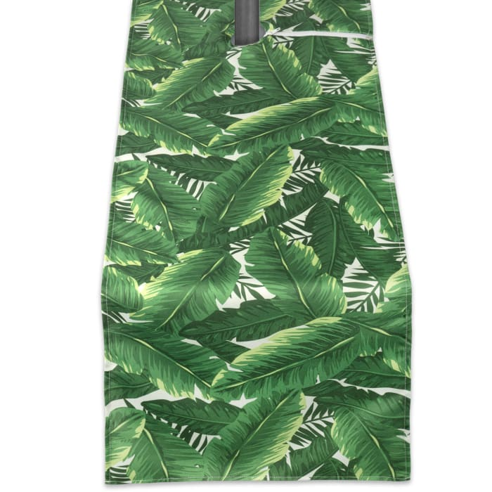 Banana Leaf Outdoor Table Runner With Zipper 14x108