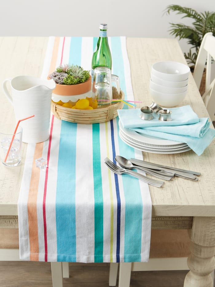 Beachy Keen Stripe Table Runner 14x72