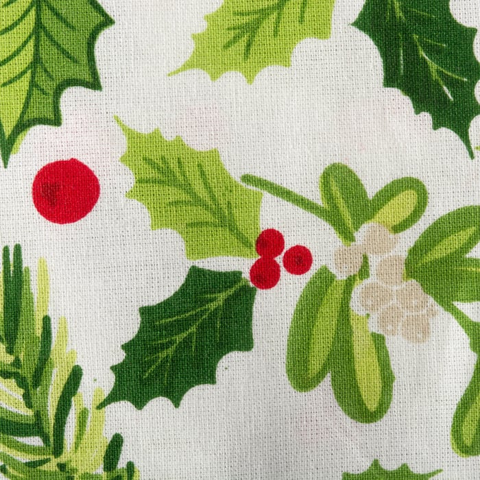 Boughs of Holly Print Tablecloth 60x104