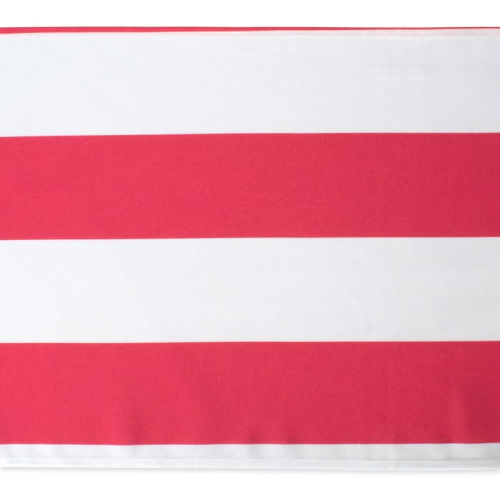 Coral Cabana Stripe Outdoor Table Runner 14x108