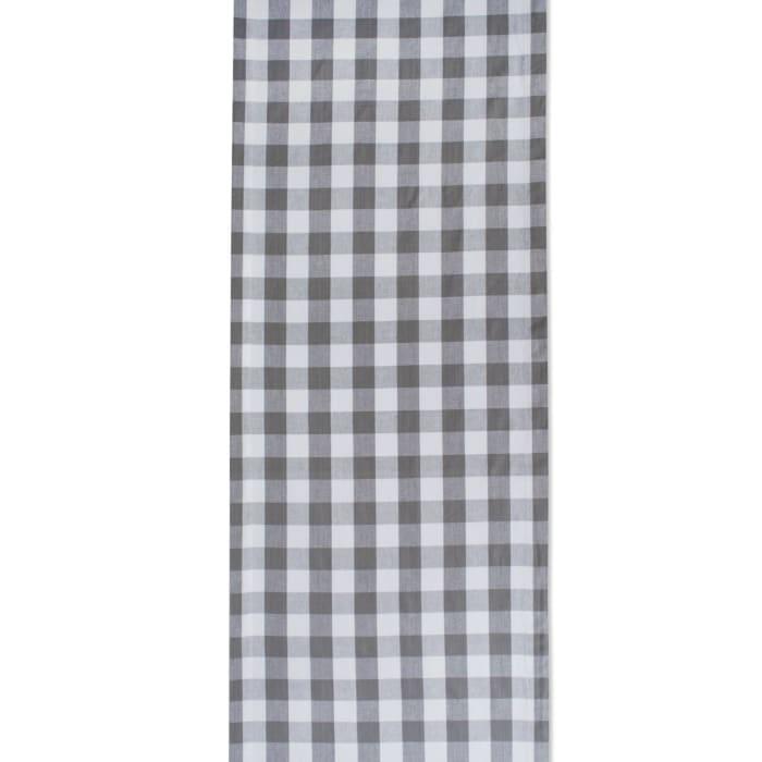 Gray/White Checkers Table Runner 14x72