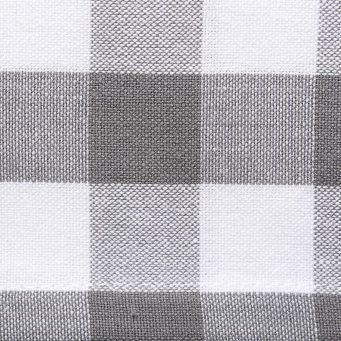 Gray/White Checkers Tablecloth 52x52