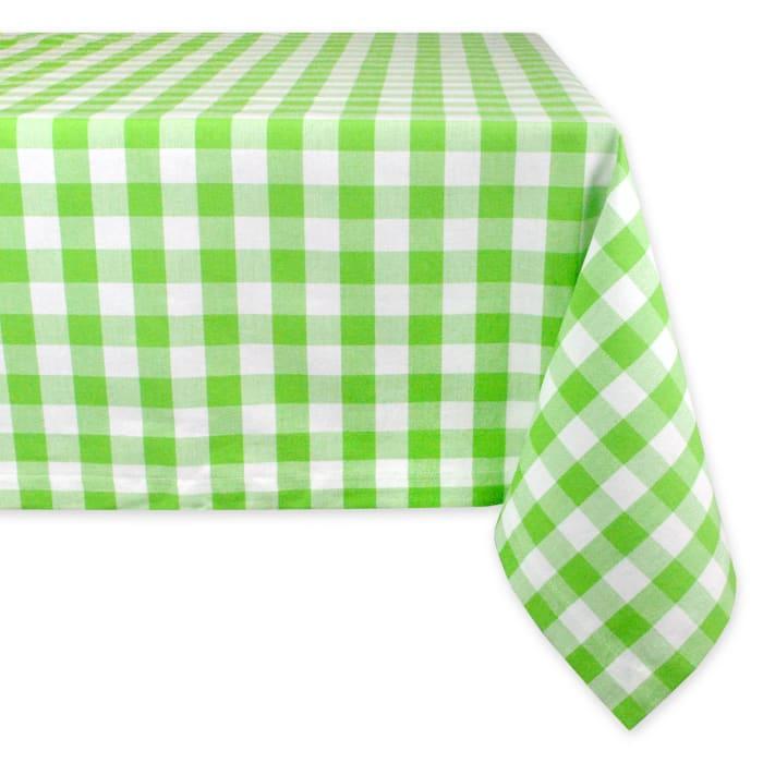 Green Apple Check Tablecloth 60x84