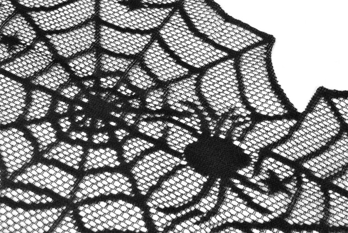 Halloween Lace Table Topper 40 Round