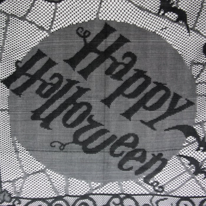 Happy Halloween Lace Tablecloth