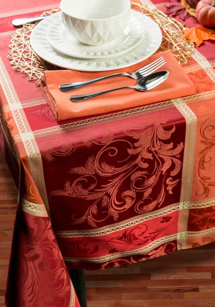 Harvest Wheat Jacquard Tablecloth 60x120