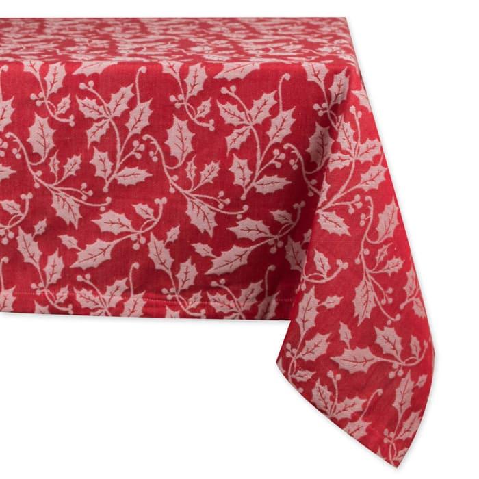 Holly Flourish Jacquard Tablecloth 60x120