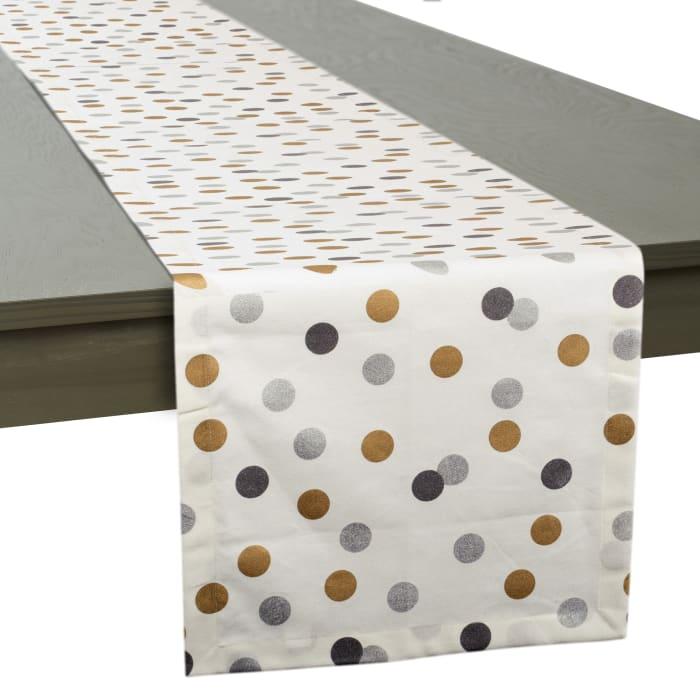 Metallic Confetti Table Runner 14x72