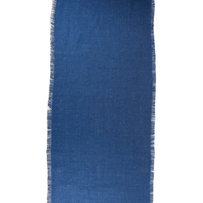 Nautical Blue Jute Table Runner 15x74