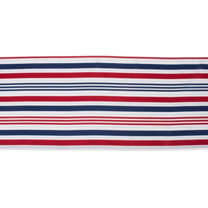 Patriotic Stripe Outdoor Table Runner 14x72