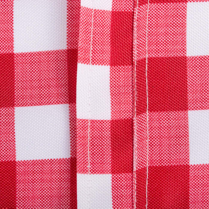 Red Check Outdoor Tablecloth With Zipper 60x120
