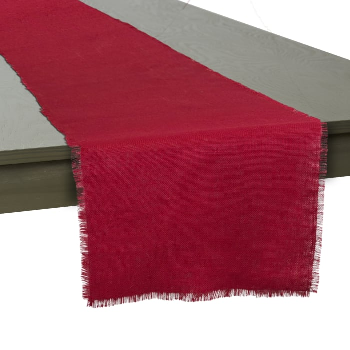 Tango Red Jute Table Runner 15x74