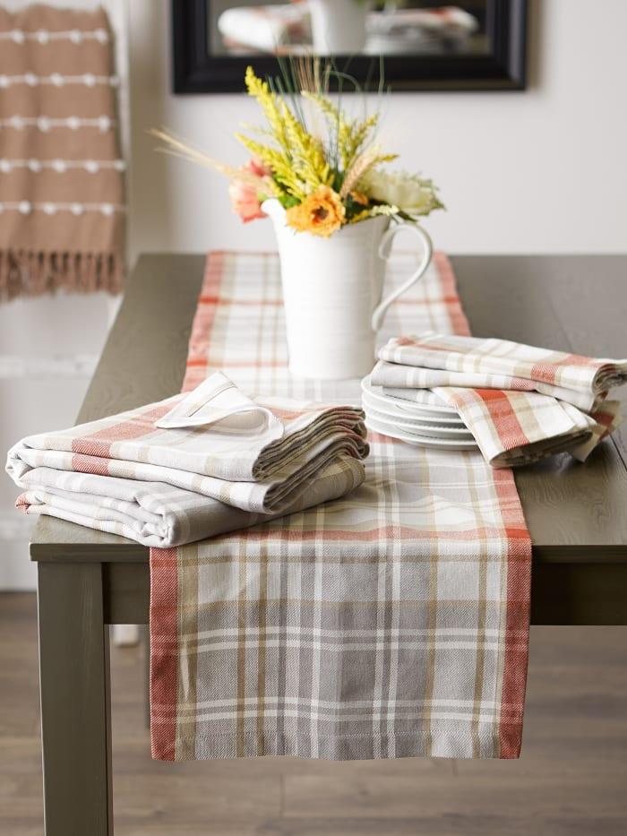 Thanksgiving Cozy Plaid Tablecloth 60x120