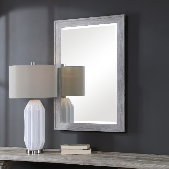 Distressed Frame Wall Mirror