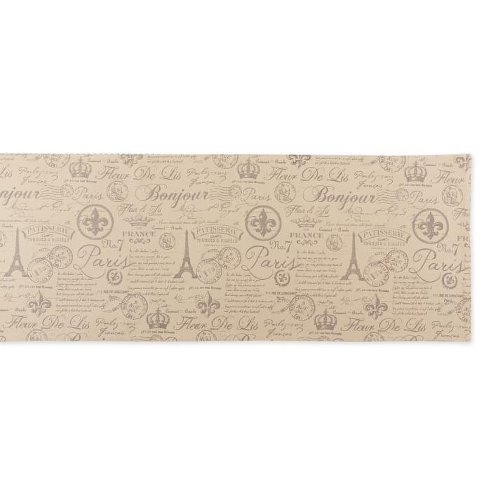 French Flourish Print Table Runner 14x72