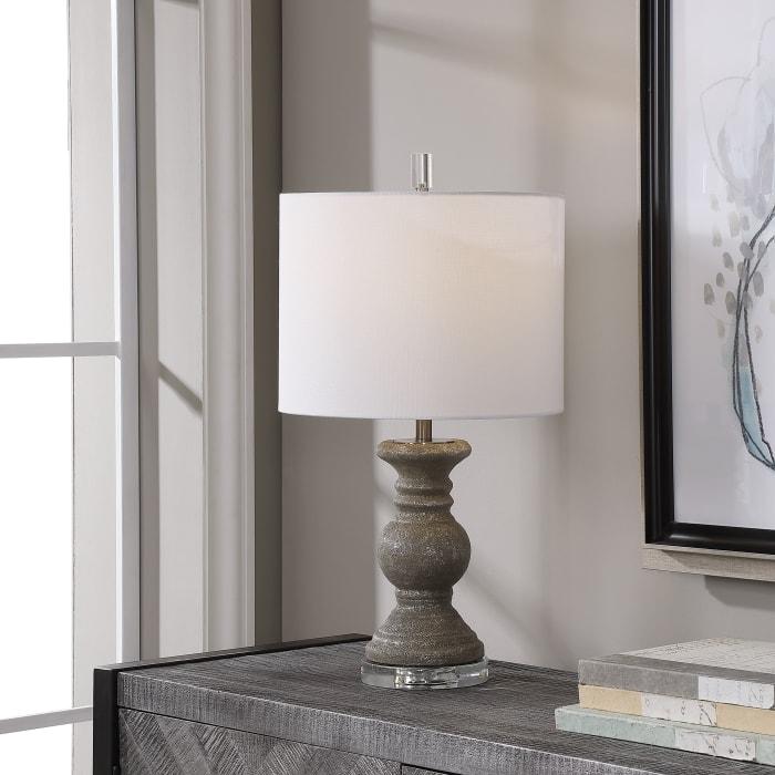 Metallic Stone Gray Lamp